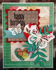 Happy Birthday - butterflies