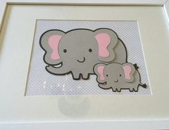 Elephant framed art