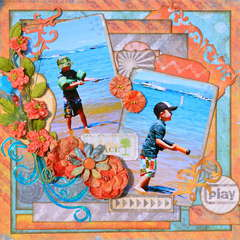 Water Gun Fight  ~~Scraps of Darkness~~  August Kit Sketch Challenge
