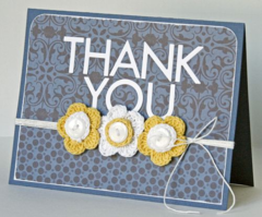 Thank You by Gretchen McElveen featuring Bella Blvd Crochet Flowers