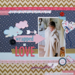 Wrapped in Love by Kathy Martin featuring Kiss Me from Bella Blvd