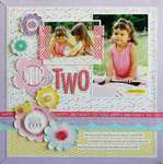 She is Two by Laura Vegas featuring the Birthday Girl Collection from Bella Blvd