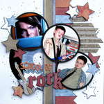school of rock - Boys Rule Scrapbook Kits