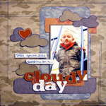 cloudy day - Boys Rule Scrapbook Kits
