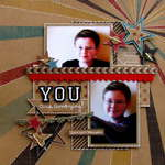 you are amazing - Boys Rule Scrapbook Kits