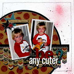 can you be any cuter? - Boys Rule Scrapbook kits