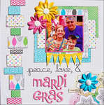 Peace, Love & Mardi Gras *Scraptastic June*