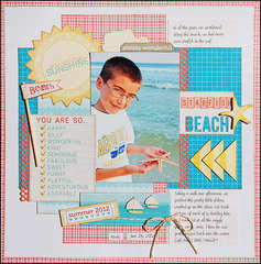 Starfish Beach *Scraptastic September*