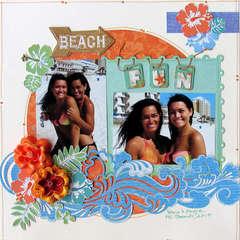 Beach Fun ~MYCREATIVESCRAPBOOK~