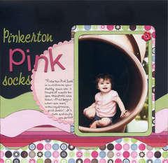 Pinkerton Pink Socks