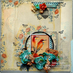 Happy *DT The Mixed Media Monthly Challenge