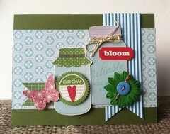 Love Bloom and Grown card