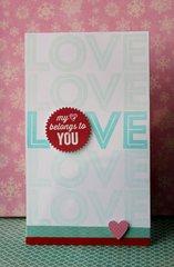 Love x 5 Card