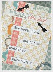 He said or she said our fun facts coffee table book *Teresa Collins