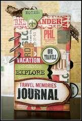 Teresa Collins World Traveler mini journal album