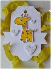 Giraffe Baby Tag