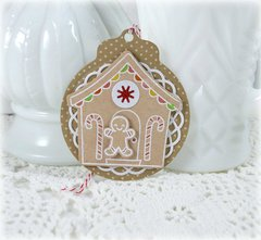 Gingerbread Christmas Tag ****Lawn Fawn