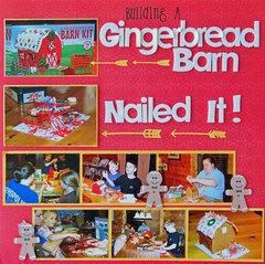 Building a Gingerbread Barn