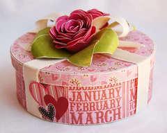 floral gift box  **Purple Onion Designs**
