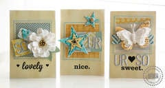 Make It Mini card set  **Pink Paislee**