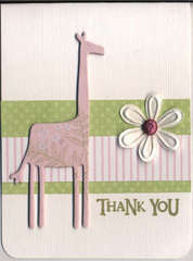 Giraffe Thank You card
