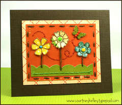 Flowers and a Butterfly Card