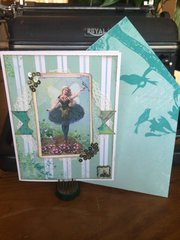 Bo Bunny Enchanted Garden greeting card and envelope