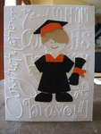 Orange and Black Graduation Card