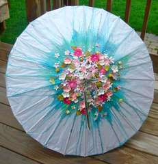 Paper Umbrella- April Showers Bring May flowers - DMC DT