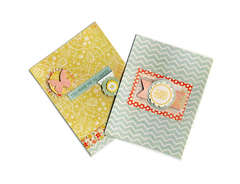 Thank you cards made with the My Mind's Eye 6x6 pad