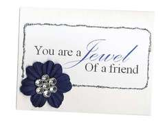 You are a Jewel of a friend - using Bazzill Jewel Bling Buttons