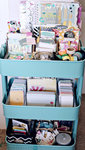 Heidi Swapp Color Pop, Clear Pop organization Raskog cart