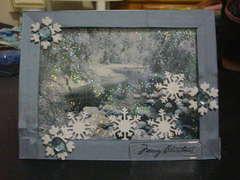 Falling Snow - Shaker Card