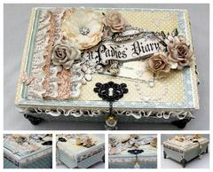 Altered cigar box. A Ladies Diary