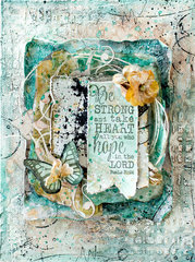 Be strong mixed media canvas