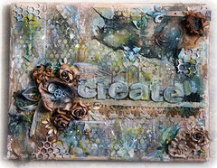 Create. Mixed Media canvas