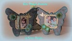 Smile- 6x6 mini chipboard album - Pages 3&4