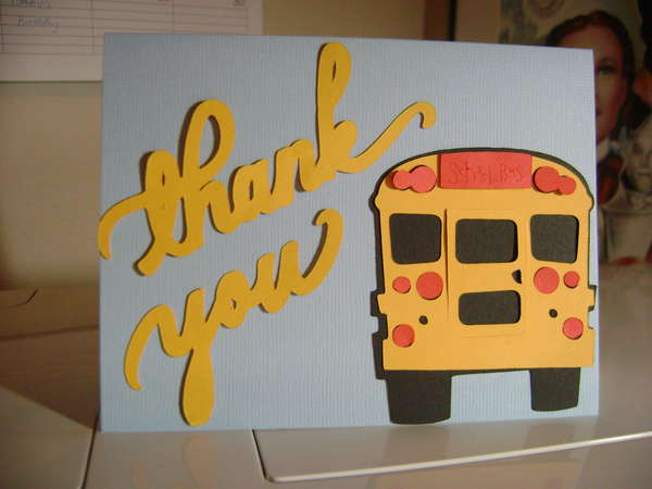 Bus Driver Thank You Cards