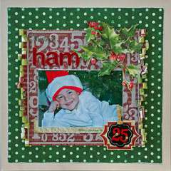 Christmas Ham *Serendipity Scrapbooks kit*