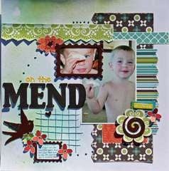 On The Mend (Serendipity Scrapbooks Sept. kit)