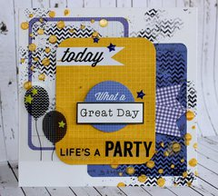 Life's a Party - Kaisercraft Dt - 2 Cool 4 School Collection