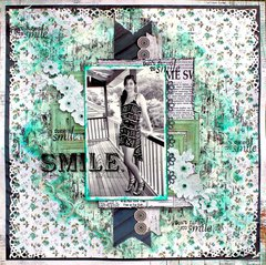 Smile - Kaisercraft DT - Blue Bay Collection