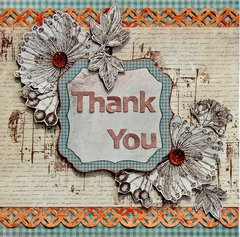 Thank You Card - Kaisercraft