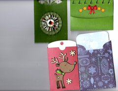 Secret Santa swap: Christmas tags and pockets