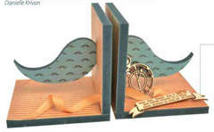 Moustache Bookends