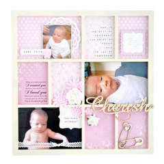 Kaisercraft Nine frame photo frame Beyond The Page by Dani Kravin