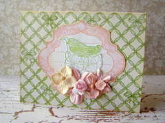 Baby Card - Graphic 45 and Prima