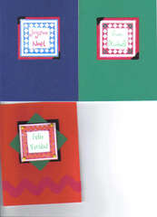 3 Foreign Language Christmas Cards