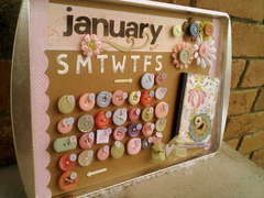 Cookie Sheet Calender