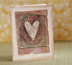 Valentine card - grunge + recycling